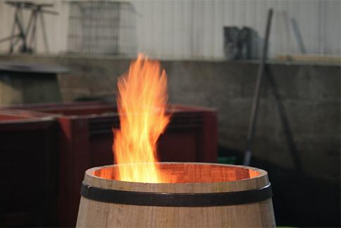 Toasting the wood